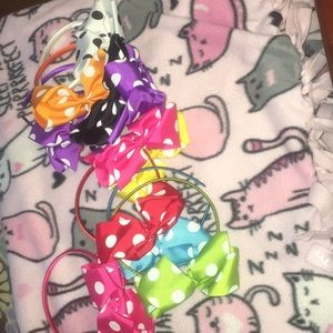 Colorful bow tie headbands